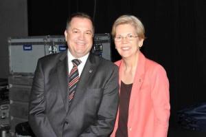 Matthew Loeb with US Senator from Massachusetts Elizabeth Warren