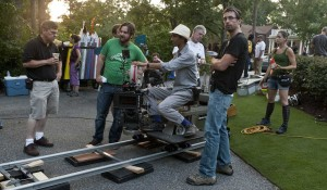 Director James Ponsoldt on set in Athens, Ga.