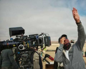 John Seale on set in Namibia.