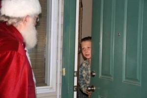 Santa at Front Door