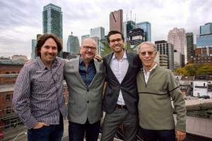From left: Chris Parker, Marcus Valentin, Marc Bachli and Rob Sim.