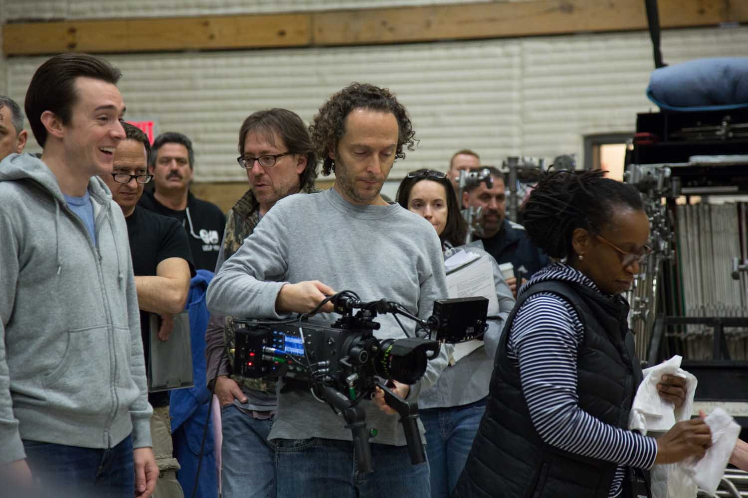 LR-Emmanuel-Lubezki-on-the-set-of-Birdma