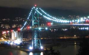 Vancouver's Lions Gate Bridge. (Photo by Aemil Folgizan).