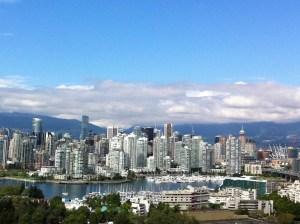 The Vancouver skyline.