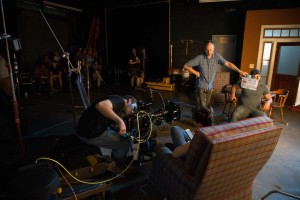 On set with the Varicam 35.
