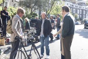 Nicholas Hytner on the set of The Lady in the Van.