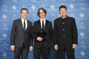 From left: Bryan Cranston, Jay Roach and John Ross.