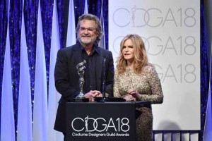 Kurt Russell and actress Jennifer Jason Leigh.