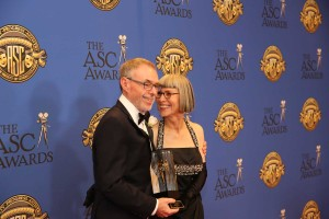 John Toll was honored with the ASC Lifetime Achievement award. It was presented to him by his wife Lois Burwell.