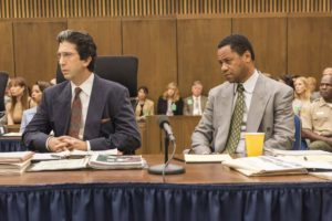 The People v OJ Simpson America Crime Story A Jury In Jail Episode 108 Pictured l-r David Schwimmer as Robert Kardashian Cuba Gooding Jr as OJ Simpson CR Prashant GuptaFX