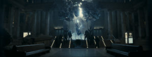 """We had to do this shot that basically explained the creation of the fractal engine Enchantress builds,"" said visual effects supervisor Mark Breakspear"