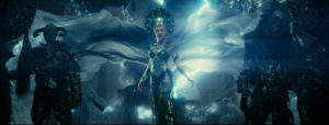 """""""Essentially, they decided to shoot [Cara] with no clothes -- i.e. with just a bikini; a tight and blended-in-with-her-body bikini,"""" said Breakspear. It was up to the Imageworks team to properly attire the movie's villain."""