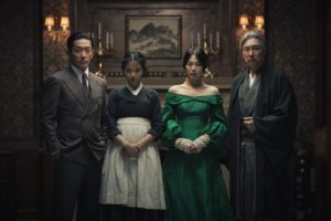 A Jung-woo, KIM Tae-ri, KIM Min-hee and CHO Jin-woong in The Handmaiden, an Amazon Studios / Magnolia Pictures release. Photo courtesy of Amazon Studios / Magnolia Pictures.