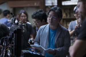 Director PARK Chan-wook on the set of The Handmaiden. Photo courtesy of Amazon Studios / Magnolia Pictures.