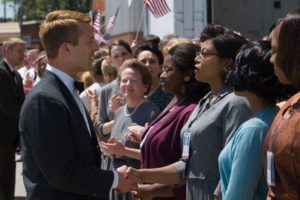 Taraji P. Henson, Octavia Spencer, Glen Powell, and Janelle Monáe in Hidden Figures