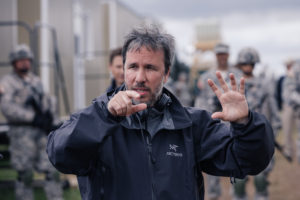 Director, Denis Villeneuve on the set of the film, Arrival by Paramount Pictures