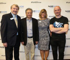 Robert Seidel, Barbara Lange, Ang Lee, and Richard Welsh at the 2016 Future of Cinema Conference