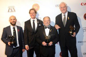 Ari Robbins, George Billinger, Phillip Caruso and Garrett Brown (Photo by Albert L. Ortega/Getty Images)