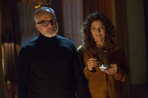 Catherine Keener and Bradley Whitford in Get Out