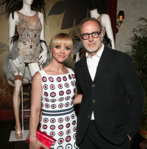 "Actor Christina Ricci and costume designer Tom Broecker attends Amazon Studios Emmy ""For Your Consideration"" event held at The Hollywood Athletic Club on April 27, 2017 in Hollywood, California. (Photo by Todd Williamson/Getty Images for Amazon Studios)"
