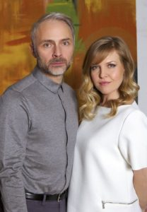 Ashley Jensen and Mark Bonnar in Catastrophe