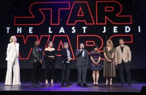 Gwendoline Christie; John Boyega; Daisy Ridley; Mark Hamill; Rian Johnson; Kelly Marie Tran; Laura Dern; Benicio del Toro Photo Credit: Jesse Grant