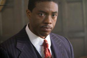 Chadwick Boseman as Thurgood Marshall.