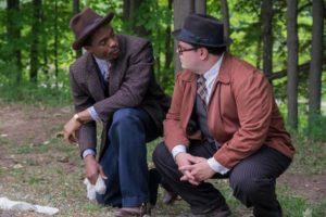Chadwick Boseman (left)/Josh Gad (right).