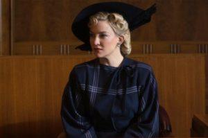Kate Hudson as Eleanor Strubing on trial.