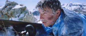 Josh Hartnett, as Eric LeMarque, struggles to survive during one of the worst blizzards in Mammoth Mountain's history.