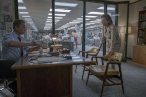Tom Hanks as Ben Bradlee (left) and Meryl Streep as Katharine Graham (right) in Ben Bradlee's Office