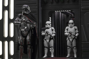 Star Wars: The Last Jedi..Captain Phasma (Gwendoline Christie) and Stormtroopers..Photo: Jonathan Olley..©2017 Lucasfilm Ltd. All Rights Reserved.