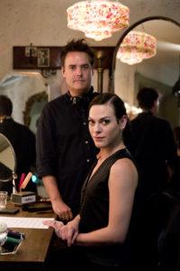 Director Sebastián Lelio (left) with Daniela Vega (right).