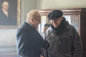 4106_D020_00013_R_CROPActor Gary Oldman and director Joe Wright on the set of DARKEST HOUR, a Focus Features release.Credit: Jack English / Focus Features