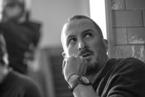 Director Darren Aronofsky on the set of mother!, from Paramount Pictures and Protozoa Pictures.