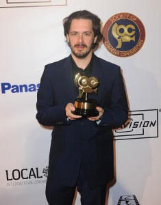 Edgar Wright, director of Baby Driver - accepted award for Roberto De Angelis, SOC