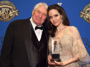Dean Semler and Angelina Jolie