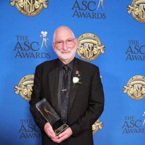 Stephen Lighthill presents his award at the 32nd Annual ASC Awards.