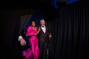 Alfonso Cuarón of Mexico poses backstage with Angela Bassett with the Oscar® for best foreign language during the live ABC Telecast of The 91st Oscars®. Credit: Matt Petit / ©A.M.P.A.S.