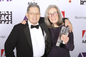 Craig McKay and Carol Littleton at the ACE Eddie Awards.