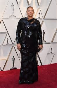 Queen Latifah walking the red carpet at the 91st Academy Awards