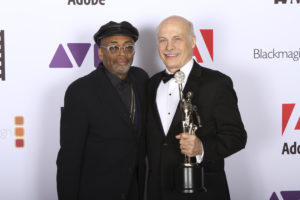 Spike Lee and Bob Eisenhardt at the ACE Eddie Awards.