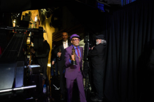 Spike Lee poses backstage with the Oscar® for adapted screenplay during the live ABC Telecast of The 91st Oscars® Credit: Mike Baker / ©A.M.P.A.S.