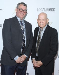 (L) Tim Menke, Publicists Awards Co-Chair, and (R) Henri Bollinger, Publicists Awards Chair, at the 55th Annual ICG Publicists Awards