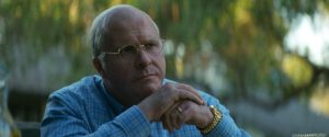 Christian Bale as an older Dick Cheney in Vice