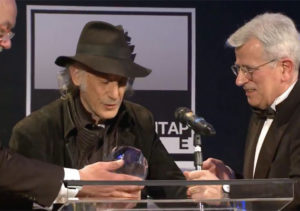 Ed Lachman accepting his IMAGO International Award for Lifetime Achievement in Cinematography