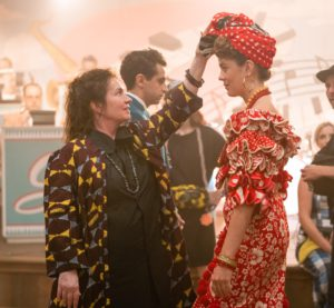 Donna Z and Dancer on the set of The Marvelous Mrs. Maisel, Season 2