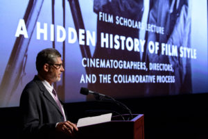 Christopher Beach lecturing at the Academy, Photo Credit: Richard Harbaugh / A.M.P.A.S.