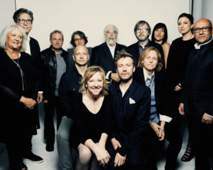 NEW YORK, NY - APRIL 20: Dee Gardetti, Marc Porat, Andy Hertzfeld, Joanna Hoffman, Tony Fadell, Michael Stern, Kevin Lynch, Megan Smith, Ceridwen Tallett, Emma Sinclair and Reynolds D'Silva of the film General Magic pose for a portrait during the 2018 Tribeca Film Festival at Spring Studio on April 20, 2018 in New York City. (Photo by Erik Tanner/Contour by Getty Images)