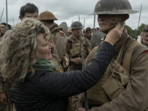 1917's hair and makeup designer Naomi Donne on set in the United Kingdom